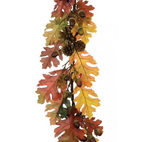 Artificial Oak Leaf Garland