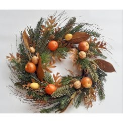 Autumn Harvest Fruits Wreath