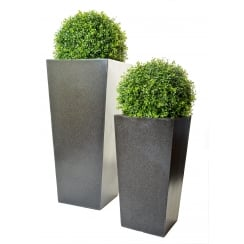 Boxwood Ball set in a Fibreglass Tapered Planter