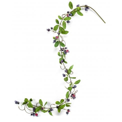 Burgundy and Blue Berry Garland
