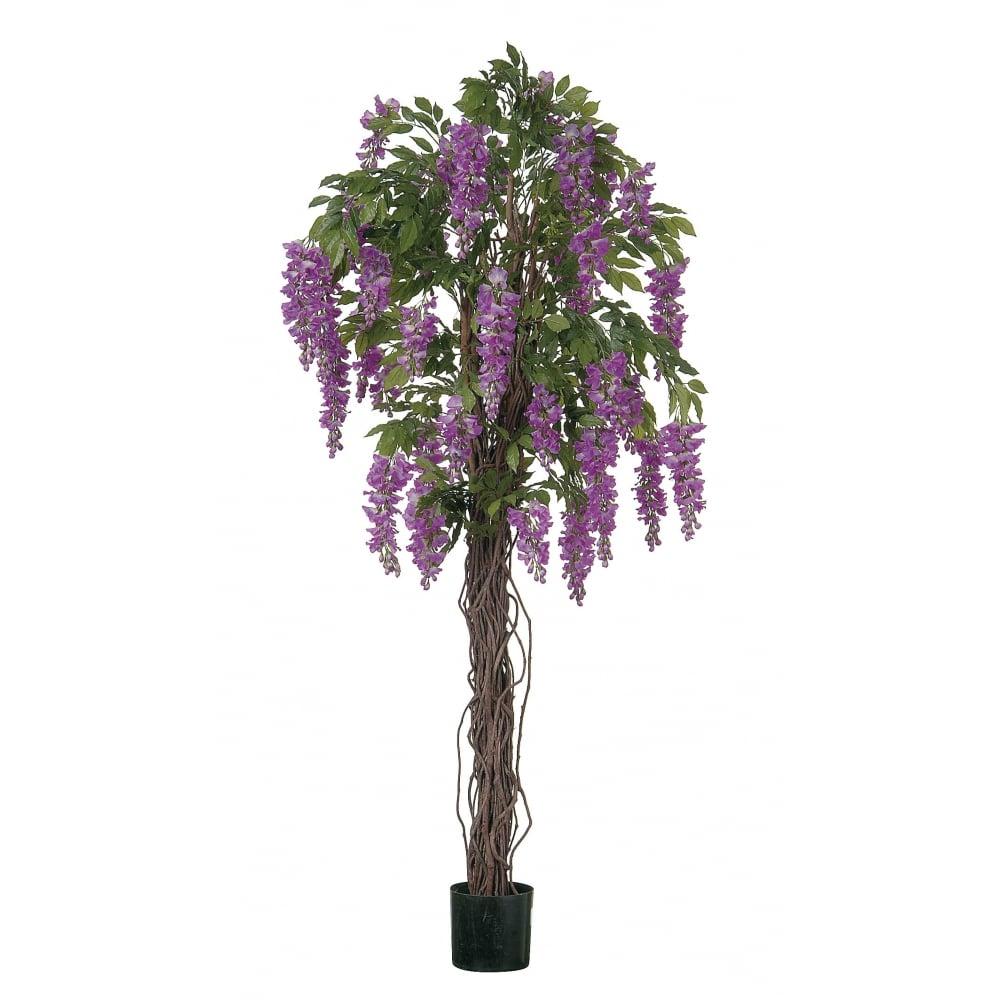 Artificial wisteria tree with cream or purple silk flowers mightylinksfo