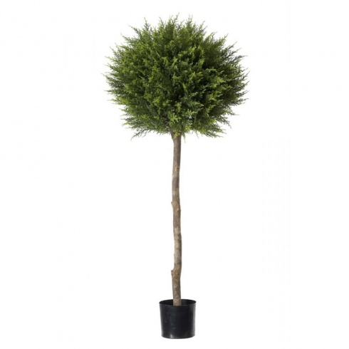 Artificial Cypress Conifer Ball Tree Outdoor Topiary Plant