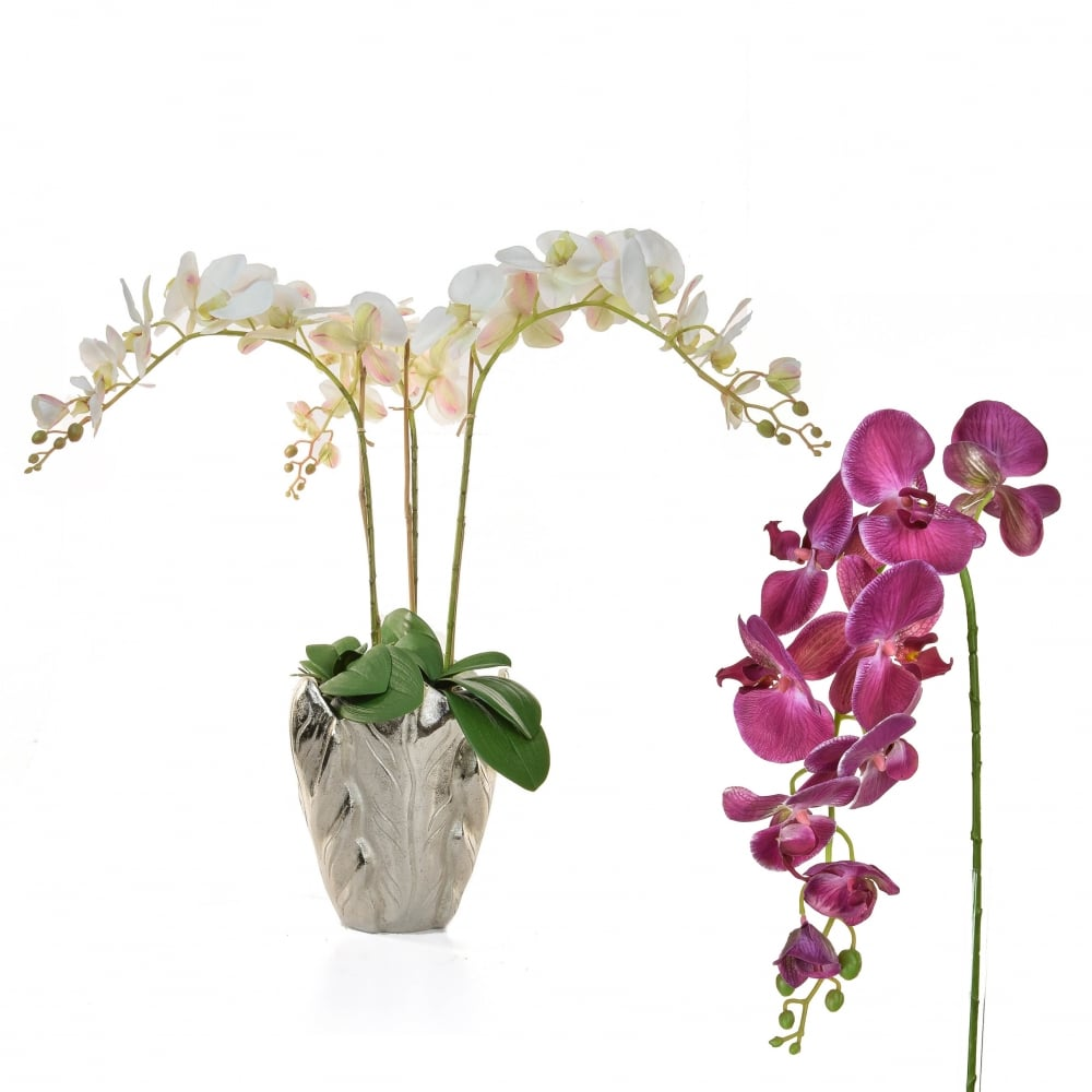 Artificial orchid display moth orchid silk flower vase arrangement orchid vase arrangement hover over image to zoom reviewsmspy