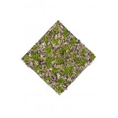 Dry Moss Wall Mat in Green and Grey