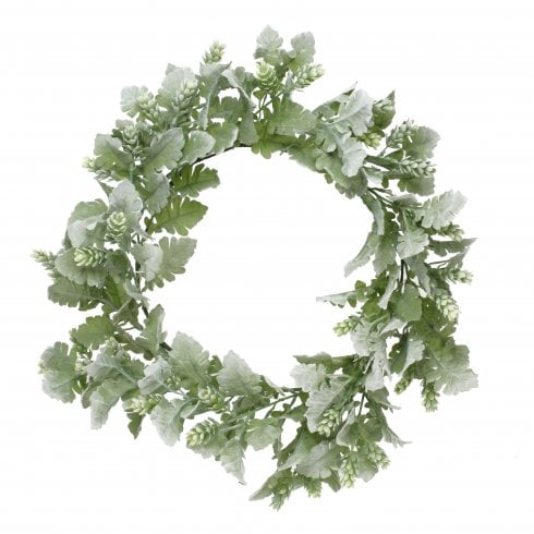 Dusty Miller and Hops Wreath
