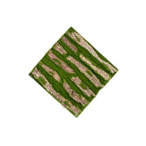 Green Moss and Bark Wall Mat