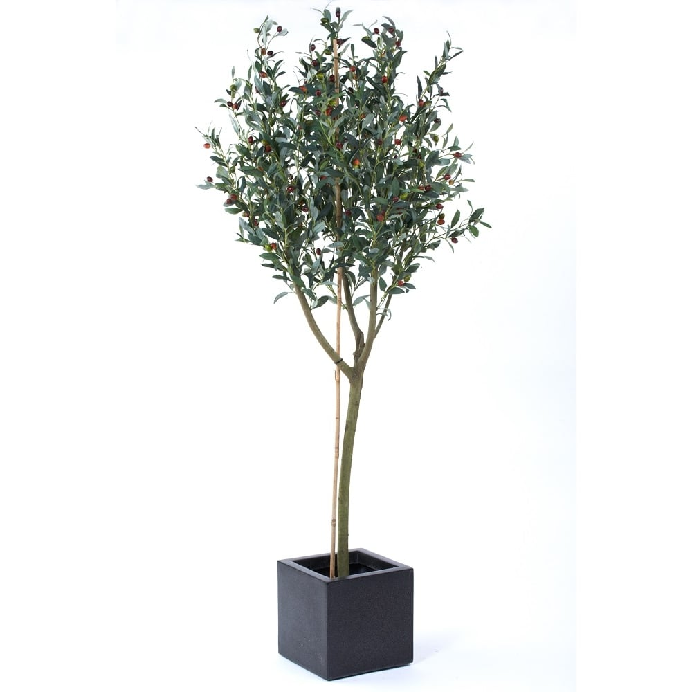 Unique Artificial Olive Tree in planter. Greek or Spanish fake olive tree VK27