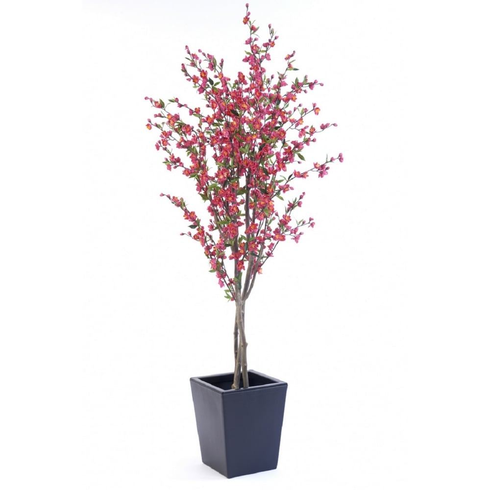 Pink Or White Artificial Cherry Blossom Tree Fake Flowering Blossom