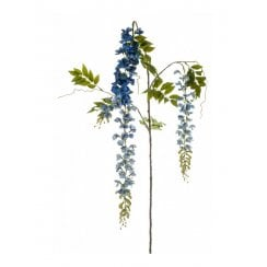 Wisteria Spray in Purple, Blue or Cream